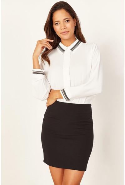 Lafaba Kadın Siyah Mini Etek