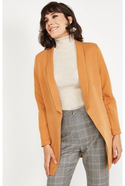 Lafaba Kadın Taba Şal Yakalı Ceket