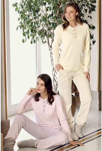 Sarı Çizgili Pijama Takımı
