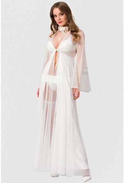 Mite Love Fantezi Gecelik Jartiyerli Takım Giyim XL