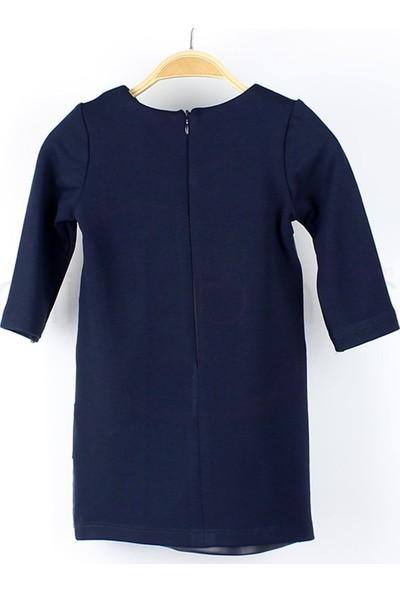 İncity 1 - 6 Yaş Incity Parça Sıralı Derili Çocuk Elbisesi