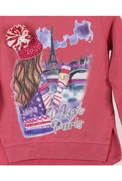 Minipomes 5 - 8 Yaş Kız Çocuk Baskılı Sweatshirt