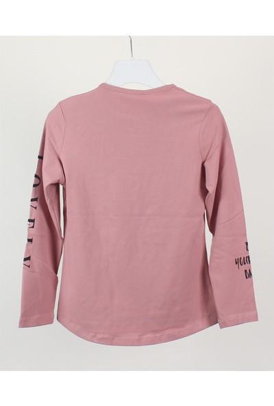 Minipomes 8 - 14 Yaş Kız Çocuk Kolları Baskılı Sweatshirt