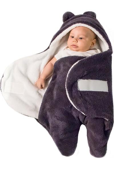 Owli Bebek Kışlık Dış Kundak Battaniye 0-6 Ay Mor