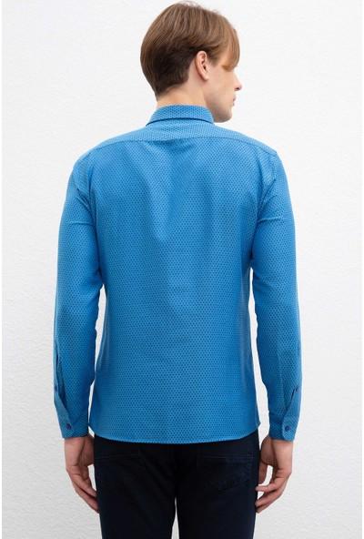 U.S. Polo Assn. Erkek Dokuma Gömlek 50220228-Vr045