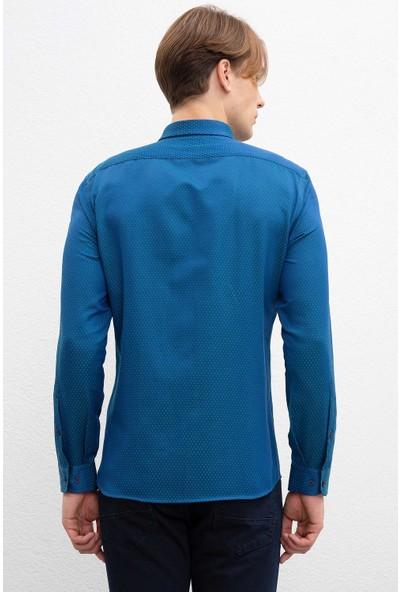 U.S. Polo Assn. Erkek Dokuma Gömlek 50220228-Vr054