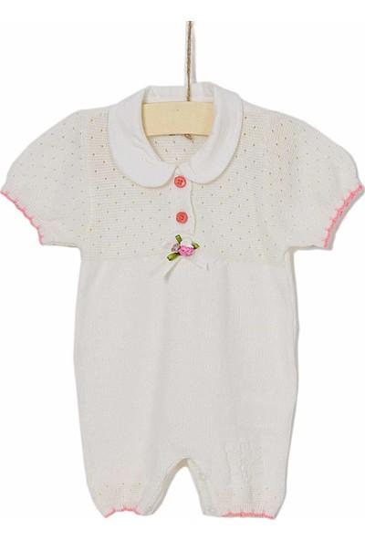 Aziz Bebe Kız Bebek Tulum 0-12 Ay T06592