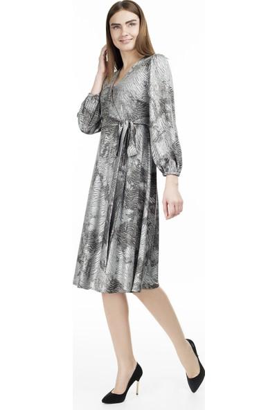 Via Dante Bağlama Detaylı Kruvaze Elbise Kadın Elbise 0231067Vd