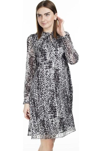 Via Dante Desenli Tül Örme Elbise Kadın Elbise 0231117Vd