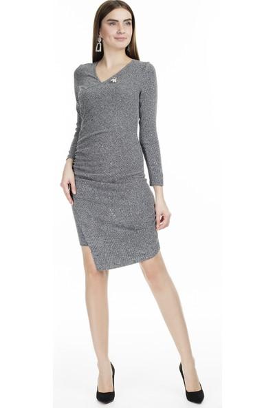 Via Dante V Yaka Elbise Kadın Elbise 04661370Vd