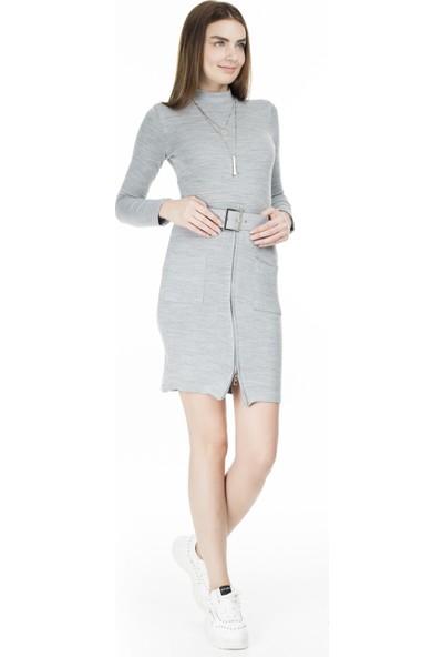 Lela Kemerli Balıkçı Yaka Elbise Kadın Elbise 5452033