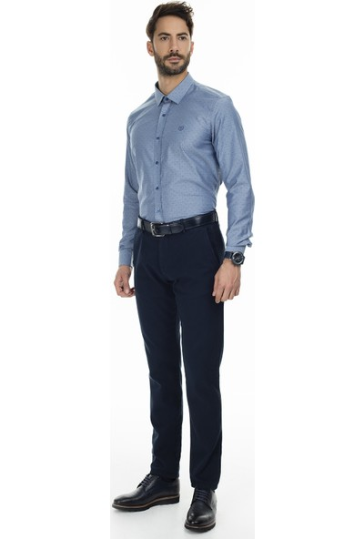 Sabri Özel Uzun Kollu Slim Fit Gömlek Erkek Uzun Kollu Gömlek 5431626A
