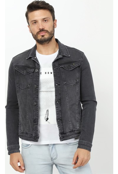 Twister Jeans Timex J41-01 Siyah Denim Ceket