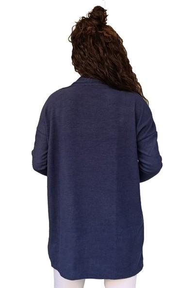 Modastoks Puntalı Lacivert Kadın Hırka