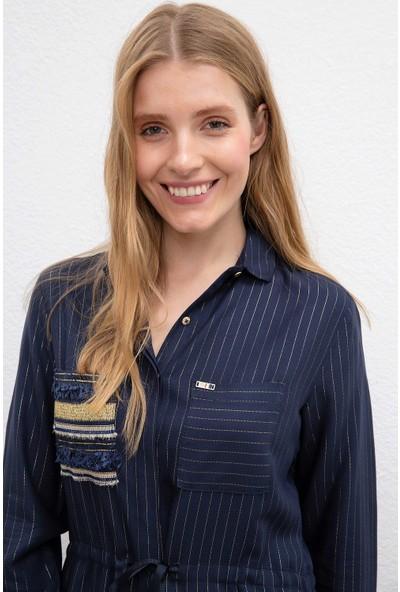 U.S. Polo Assn. Kadın Dokuma Elbise 50207465-Vr033