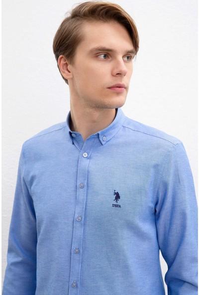 U.S. Polo Assn. Erkek Dokuma Gömlek 50218547-Vr036