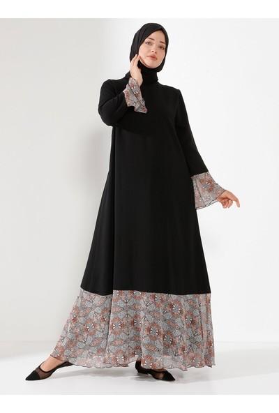 Nilüfer Kamacıoğlu Kadın Volanlı Elbise Siyah