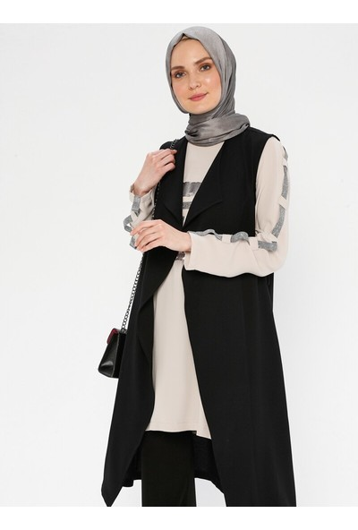 Puane Kadın Yelekli Tunik Siyah