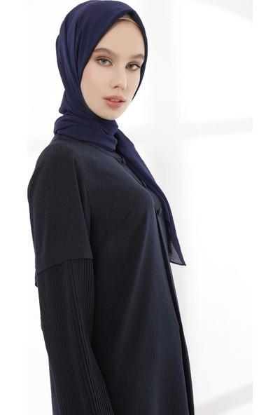 Sitare Önü Düğmeli Kolu Pileli Kadın Tunik 19Y2590-1