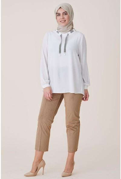 Sitare Kemeri Lastikli Kadife Kadın Pantolon 4506-K