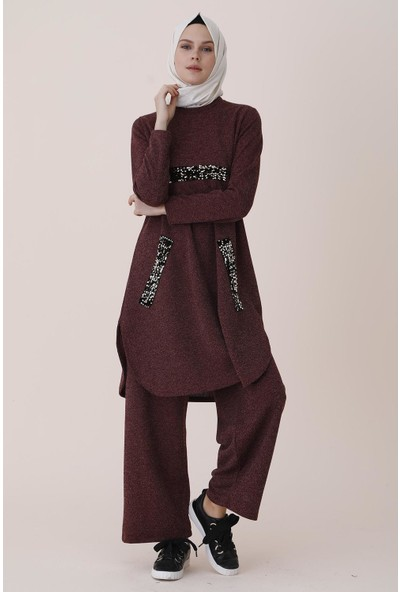 Sitare Örgü Pulpayetli Kadın Tunik Takım 1210