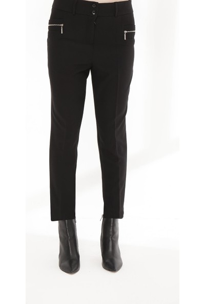 Sitare Fermuarlı Bilek Boy Kadın Pantolon 20K9034