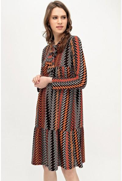 Deppoist Etnik Desen Kadın Elbise