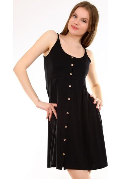 Deppoist Askılı Düğmeli Kadın Elbise