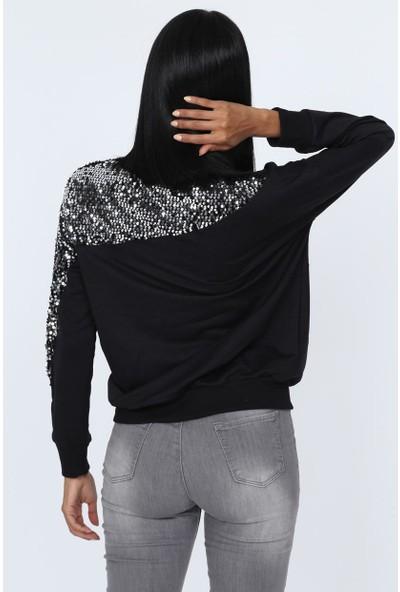 Deppoist Kol Roba Pullu Kadın Sweatshirt