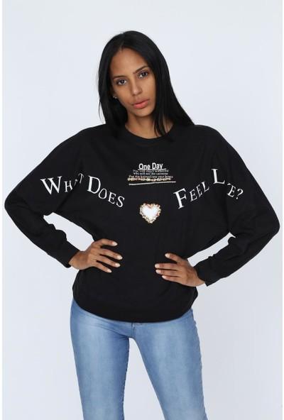 Deppoist One Day Baskılı Kadın Sweatshirt
