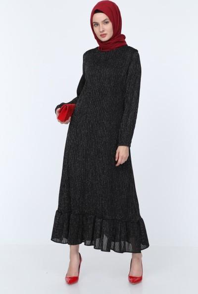 Deppoist Simli Fırfırlı Kadın Elbise