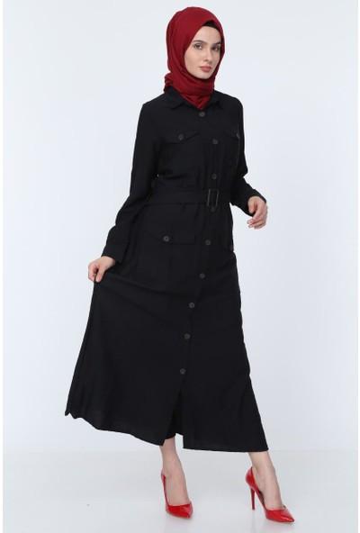 Deppoist Toka Kemerli Kadın Elbise