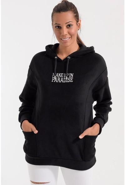Deppoist Polar Kapşonlu Kadın Sweatshirt