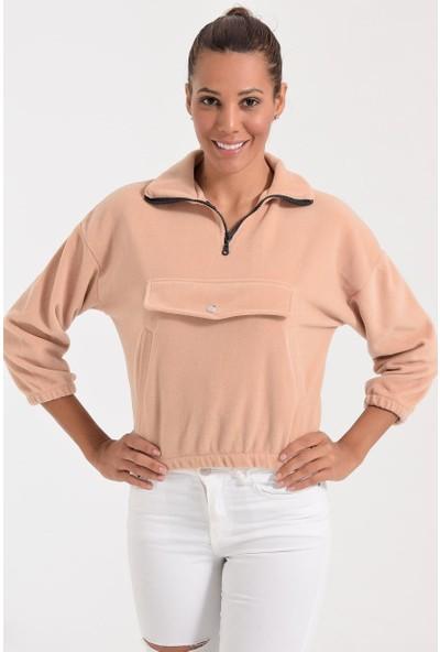 Deppoist Polar Kapaklı Kadın Sweatshirt