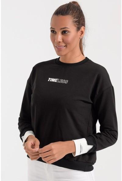 Deppoist Kol Detay Kadın Sweatshirt