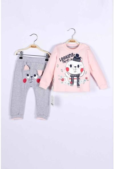 Miniworld Kedi Desenli 2'li Pijama Takımı