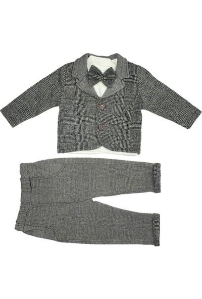 Hippıl Baby Ekose Ceketli Papyonlu Takım