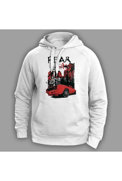 Vectorwear Fear Beyaz Unisex Sweatshirt