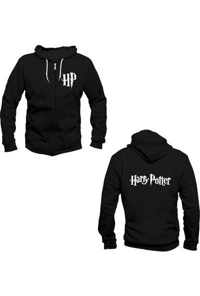 Vectorwear Harry Potter Fermuarlı Kapuşonlu Unisex Sweatshirt