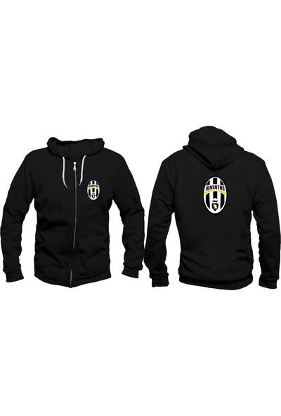 Vectorwear Juventus Fermuarlı Unisex Sweatshirt