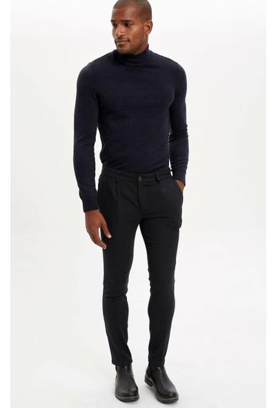 Defacto Tailored Fit Çizgili Yün Pantolon