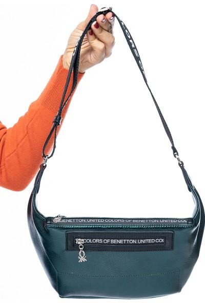 Benetton Kadın Vücut Çantası Petrol-Siyah Bnt134
