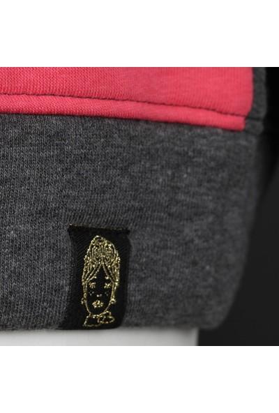Duca Blanca 1610 Gri-Pembe Sweatshirtshirt