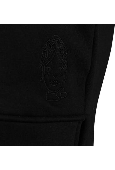 Duca Blanca 1620 Kadın Sweatshirt Siyah