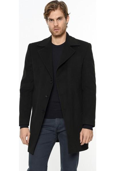 Dewberry P8319 Siyah Erkek Palto