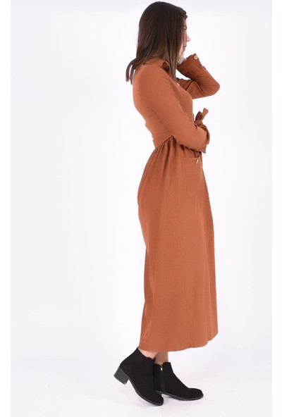 Sam Toni Camel Kadife Elbise