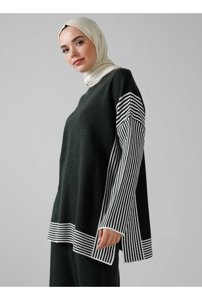 Refka Triko Tunik Etek İkili Takım Haki Modanisa