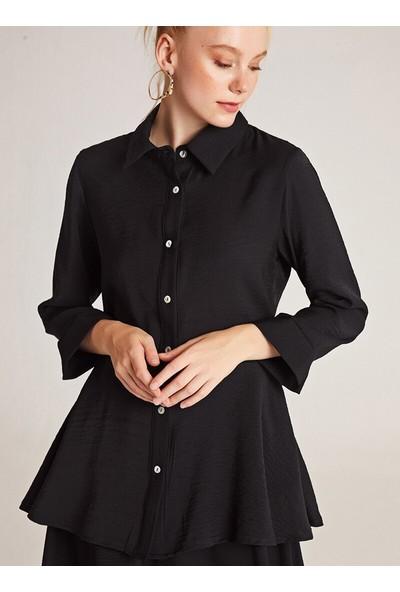 Muni Muni Bluz Etek İkili Takım Siyah