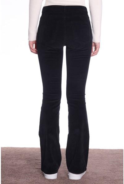 Dilvin Kadın Pantolon İspanyol Paça PA7024 Siyah