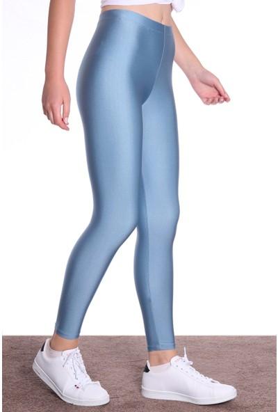 Dilvin Kadın Parlak Tayt P4001 Mavi